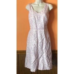 Silk Linen A-Line Dress